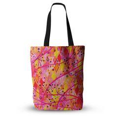"Ebi Emporium ""Into the Fall"" Orange Pink Everything Tote Bag"