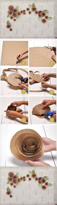 21 Extraordinary Smart DIY Paper Wall Decor That Will Color Your Life homesthetics design 9 20 Extraordinary Smart DIY Paper Wall Decor [Free Template Included] Paper Wall Decor, Paper Flower Decor, Giant Paper Flowers, Flower Crafts, Diy Flowers, Flower Decorations, Fabric Flowers, Paper Roses, Flower Diy