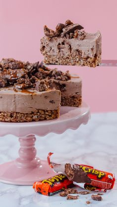 The best kind of cheesecake is the kind you don't have to bake ... topped with toffee.