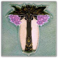 H. Johnson - Art Nouveau Tile.