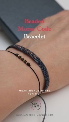 Adjustable men's or women's hidden secret message bracelet is a perfect opportunity to surprise your boyfriend, husband, dad or any significant person in your life. This wonderful Morse Code beaded bracelet comes with a delicate gift wrapping and contains a secret message that only your beloved will understand and cherish for the rest of his life. #morsecodebracelet #beadedbracelet #custombracelet Presents For Your Boyfriend, Meaningful Gifts For Her, Morse Code Bracelet, Beaded Wrap Bracelets, Bracelet Making, Natural Gemstones, Opportunity, Rest, Delicate