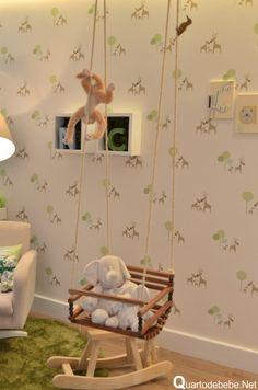 Baby swing in the nursery