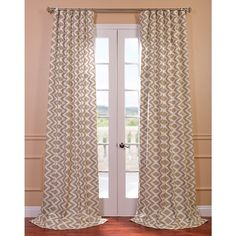EFF Palu Printed Cotton Curtain Panel - Overstock Shopping - Great Deals on EFF Curtains