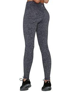 Yoga Reflex Women's Tummy Control Sports Running Yoga Workout Leggings Pants Hidden Pocket (S-3XL) , NavyHeather , Small