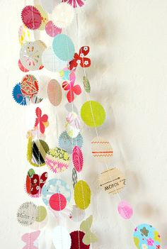 paper garlands, idea, weight loss secrets, the craft, old cards, weight loss tips, papers, paper scraps, guest rooms
