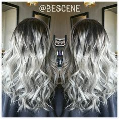 A root platinum with Olaplex.