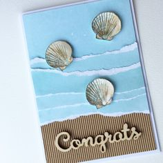 ***SOLD*** Sea Shell Congrats Card (this was a special order for a customer)
