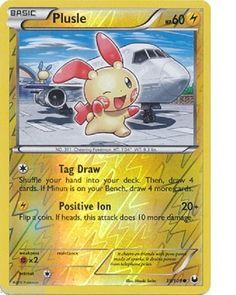 Pokemon Card Dark Explorers Reverse Holo Plusle 39/108