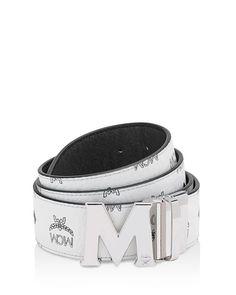 79a6491649c Mcm Visetos M-Buckle Reversible Signature Belt Mcm Belt