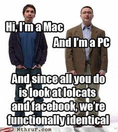 mac, pc ads were awesome