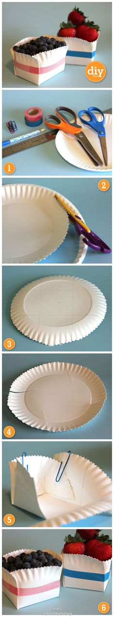 Would A Basket Make Organizing Things A Lot Easier?  See how to make a cute basket out of a paper plate and tape in only 6 easy step.    Search www.localsolution.com for a craft store near you.  #paper plate projects #kid friendly
