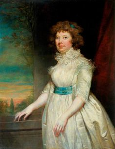Portrait of a Lady Wearing a White Dress (1795)  by James Northcote       Date painted: 1795