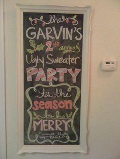 LOVE the fun chalkboard idea.  My little dry erase board just isn't artistic enough!