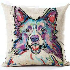 Dog Lovers Cushion Cover Decorative Throw Pillows