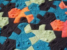 Fish blanket knit, then sew fish together. 7€ for pattern