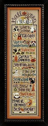 cross stitch patterns buttons : Lizzie Kate 6 Sets of Halloween Rules counted cross stitch. $48.00, via Etsy.