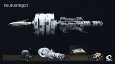 The Mars Project-Spaceship by MASCH-ARTDesign.deviantart.com on @DeviantArt