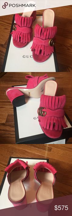 f2daf0692 Gucci Marmount mules 100% AUTHENTIC Gucci Pink mules. Super stylish &  comfy. The
