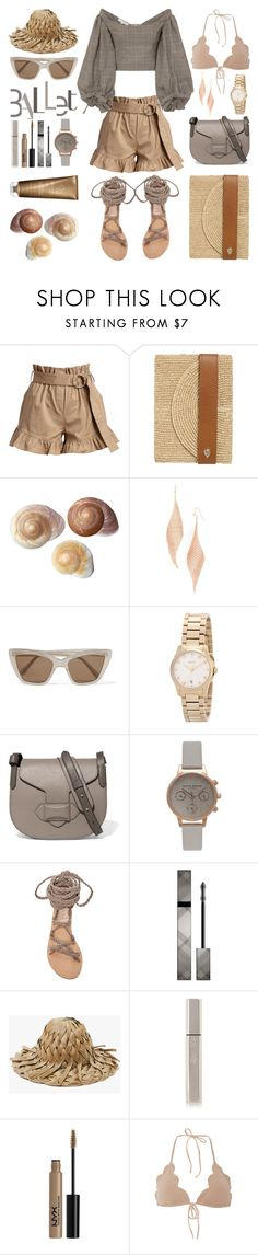 """Unbenannt #1087"" by fashionlandscape ❤ liked on Polyvore featuring Cinq à Sept, Helen Kaminski, Jules Smith, Prism, Gucci, Michael Kors, Topshop, Ancient Greek Sandals, Burberry and Kjaer Weis"