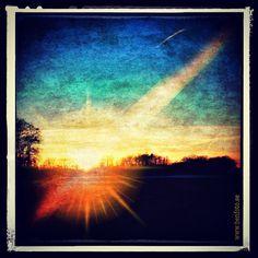Sunset over Elleholm