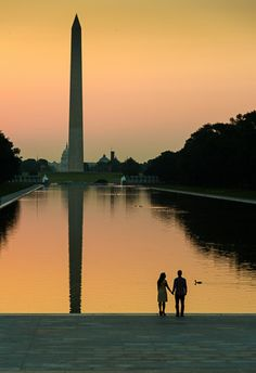 Washington DC National Mall Lincoln Memorial Sunrise Engagement Photographer