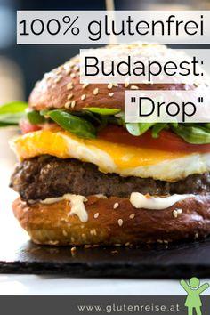 100% glutenfrei in Budapest. Im Drop Restaurant ist das Möglich. Unbeschwert Urlaub trotz Zöliakie. Budapest, Hamburger, Restaurants, Drop, Ethnic Recipes, Travel Tips, Hotels, Travel, Goulash