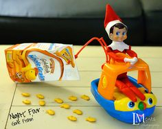 Elf on the Shelf gone fishing..