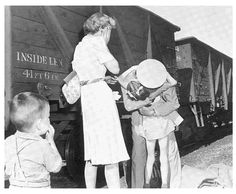 "One of the best stories of my career was the story of the lives of the four people in this Pulitzer Prize-winning photo by Earle ""Buddy"" Bunker: Bob and Dorothy Moore, their daughter Nancy and their nephew Michael Croxdale. http://www.scribd.com/doc/57824432/The-Homecoming"