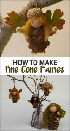 These Pine Cone Fairies are a Cute Addition to Your Fall Decor, Christmas Tree and Fairy Garden! 33 Cute Modern Decor Ideas To Copy Right Now – These Pine Cone Fairies are a Cute Addition to Your Fall Decor, Christmas Tree and Fairy Garden! Pine Cone Art, Pine Cone Crafts, Pine Cones, Fairy Crafts, Garden Crafts, Garden Kids, Autumn Crafts, Nature Crafts, Christmas Fairy