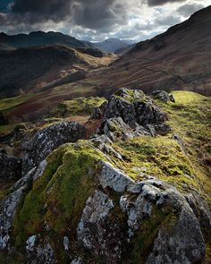 Great Gable from Castle Crag, Lake District, England
