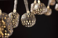 This is one of the most popular in the range - the gorgeous 'Maroq'  Available in Battery or Electric options. Silver intricate metal balls round and oval shapes.   Battery is $19.95 - 1.9 metres Electric is $39.95 - 2.7 metres
