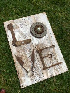 Salvaged Love Sign ... Big Love by SeaAndGreen on Etsy