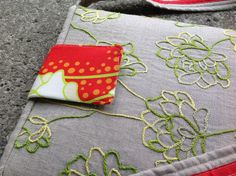 Embroidered ipad case project
