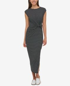Tommy Hilfiger Knotted Midi Dress, Only at Macy's