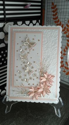 28 Ideas craft birthday cards flower shops – Famous Last Words Birthday Cards For Women, Handmade Birthday Cards, Happy Birthday Cards, Greeting Cards Handmade, Butterfly Cards Handmade, Chloes Creative Cards, Stamps By Chloe, Crafters Companion Cards, Embossed Cards