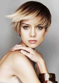 Ombre für kurze Haare glatte-haare-kurzhaarschnitt-balayage