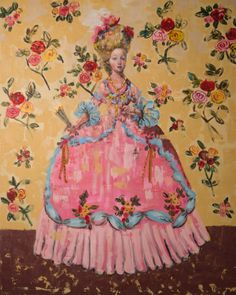 Rimi Yang - Contemporary Artist - Figurative Painting - Lady of Roses