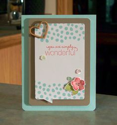 You Are Simply Wonderful Card using products from the Stampin' Up Watercolor Wishes Card Kit.