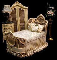 miniature furniture Wicker Bedroom Suite..8..18 qw