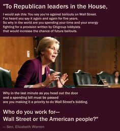Elizabeth Warren Taking Republican Greed And Political Corruption To Task