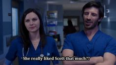 #NightShift #JillFlint #EoinMacken Jordan's mother isn't exactly over Scott. Mrs. Alexander absolutely loved him and was devastated when Jordan dumped the dashing doctor. Throw in the fact that she's not exactly TC's biggest fan, and it's understandable that Jordan hasn't told her they're back together. Jordan promises to break the news to her mother... after she leaves town. TC isn't thrilled at being a secret, but he's more confused as to what's so great about Scott.