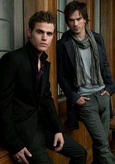 Ian Somerhalder and Paul Wesley as Damon and Stefan Salvatore - Vampire Diaries.