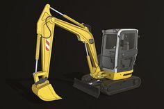864f49f020 Mini Excavator 2 Low-poly 3D model  3D  Excavator  Lowpoly  Mini  model