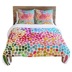 Duvet cover with a pixel-inspired motif by artist Garima Dhawan for DENY Designs.  Product: Duvet coverConstruction Mater...
