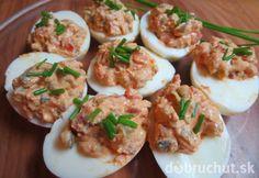 Fotorecept: Plnené vajcia s tofu a olivami