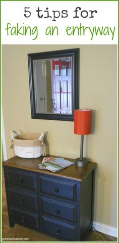 Five tips for faking an entryway when you don't have one. Great tips! | Green With Decor