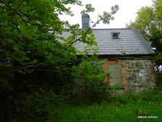 abandoned house. back view.buncrana county Donegal