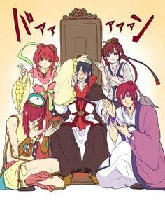 Ren clothes swap! | Magi (kou empire), Kouha, Hakuryuu, Kougyoku, Koumei and Kouen