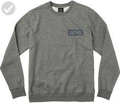 RVCA Men's Double Rope Embroidered Crew Sweatshirt, Grey Noise, 2XL - Mens world (*Amazon Partner-Link)