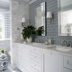 inspiration wall setting apart toilet tile to ceiling behind vanity (only) as cost saver